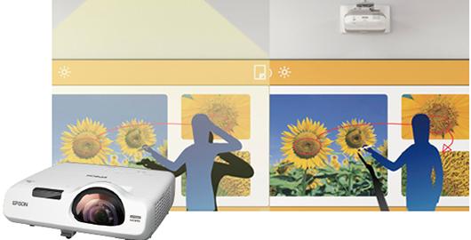 短距离投影,减少课堂教学干扰 - Epson CB-530产品功能