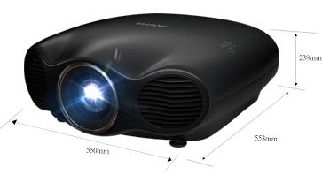 产品外观尺寸 - Epson CH-LS10000产品规格