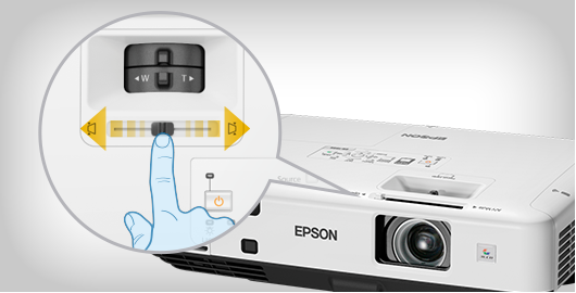 水平梯形校正滑钮 - Epson EB-C750X产品功能