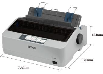 产品外观尺寸 - Epson LQ-520K产品规格