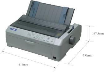 产品外观尺寸 - Epson LQ-590K产品规格