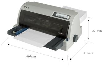 产品外观尺寸 - Epson LQ-790K产品规格