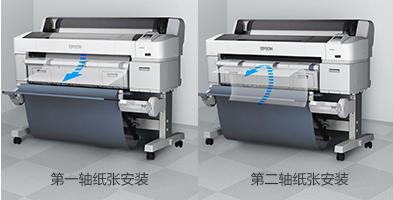 双卷轴配置 - Epson SureColor T7280D产品功能