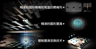 墨滴智能变换技术 - Epson SureColor P10080产品功能