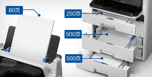 强大供纸 灵活处理多种介质 - Epson WF-C579Ra产品功能