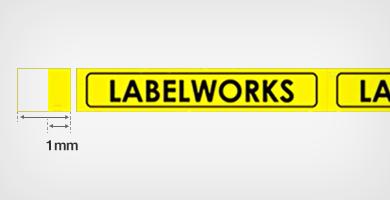 色带两端留白少 - Epson LW-600P产品功能