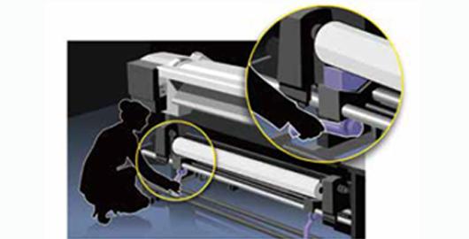 介质提升杠杆 - Epson SureColor S80680产品功能