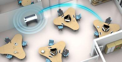 WiFi直连功能 - Epson SureColor T5180N产品功能