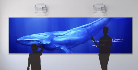 双屏拼接超宽屏互动 - Epson CB-1485Fi产品功能