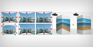 曲面校正与折角投影 - Epson CB-G7400U产品功能