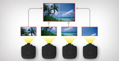 自动比例调整 - Epson CB-G7100 NL产品功能