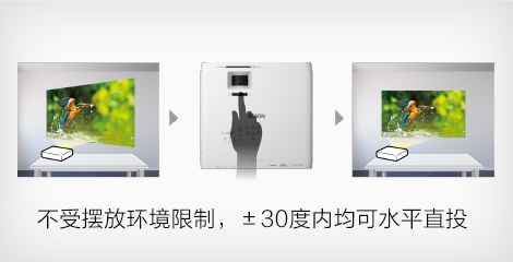 梯形校正支持侧面投影 - Epson CB-L200F产品功能