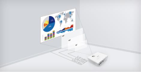 多种距离 多种屏幕尺寸 让选择更随心 - Epson CB-L200F产品功能