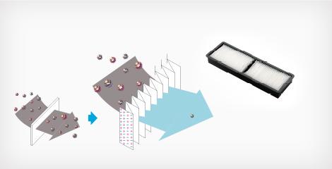 高效静电空气过滤网 - Epson CB-L200F产品功能