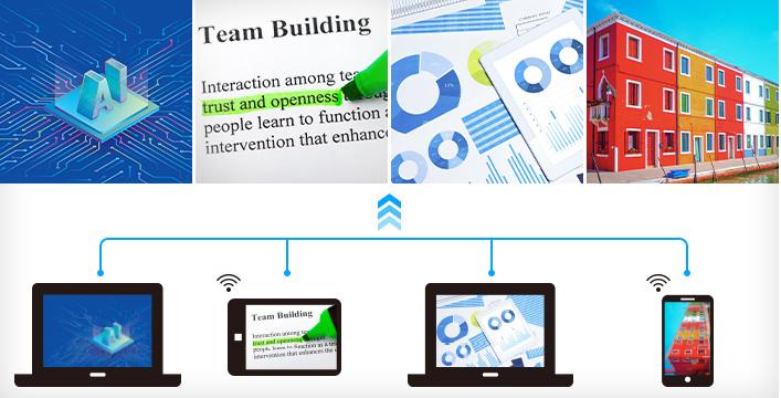 网络四画面投影,轻松高效共享 - Epson CB-L200SX产品功能
