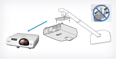 易于安装 - Epson CB-L200SX产品功能