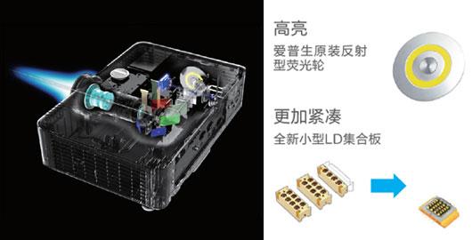 光学组件优化,实现高亮小巧 - Epson CB-L610W产品功能