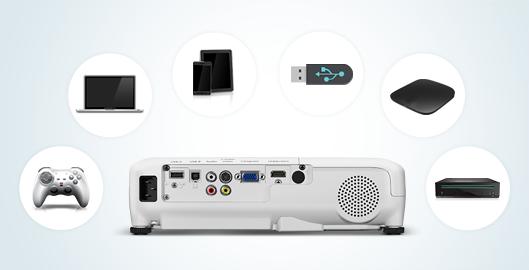 多接口 - Epson CB-W32产品功能