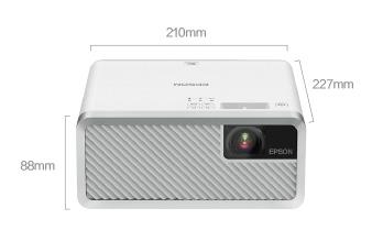 产品外观尺寸 - Epson EF-100W 产品规格