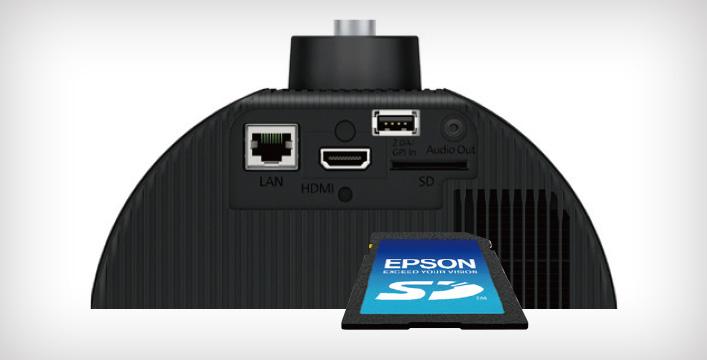 支持SD卡信号输入 - Epson EV-115产品功能