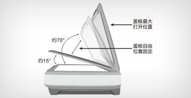 盖板自动限位装置 - Epson Expression 12000XL产品功能