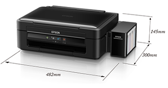 产品外观尺寸 - Epson 墨仓式<sup>®</sup>L360产品规格