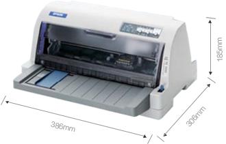 产品外观尺寸 - Epson LQ-82KF产品规格